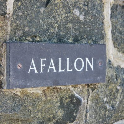Afallon sign at the entrance