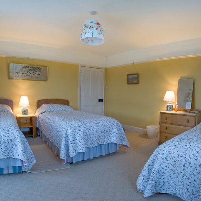 West facing triple bedroom, sea and coastal views